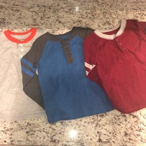 Cat & Jack Toddler Boys Henley Bundle 3T